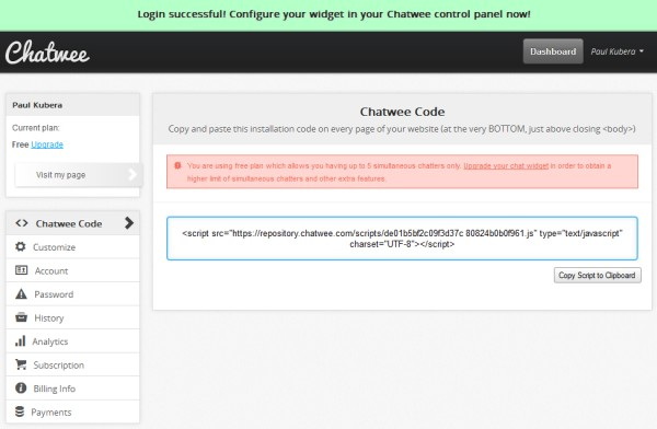 Chat Box Code Html