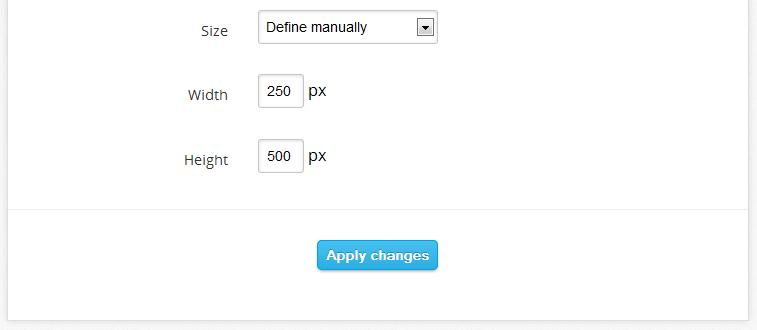 Chat Box Define Size Manually