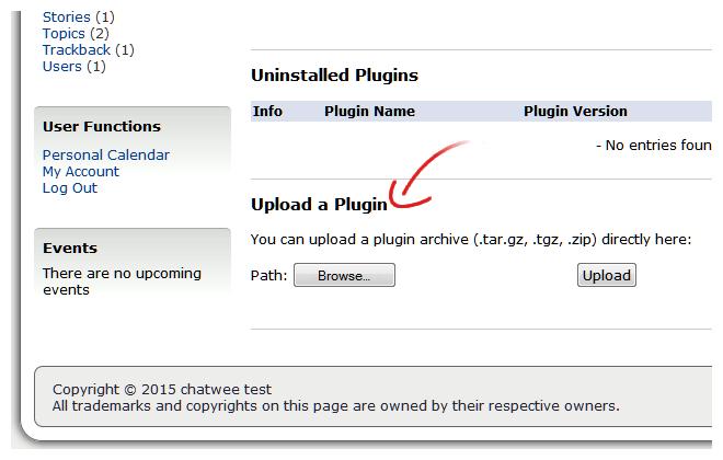 Chat Plugin Upload Geeklog