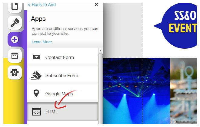 Wix Add App HTML