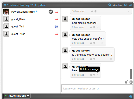 Live Chat real-time content moderation