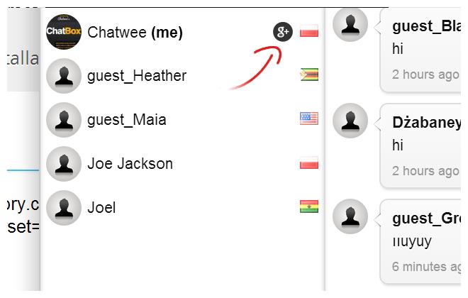 Chat platform Google+ Login
