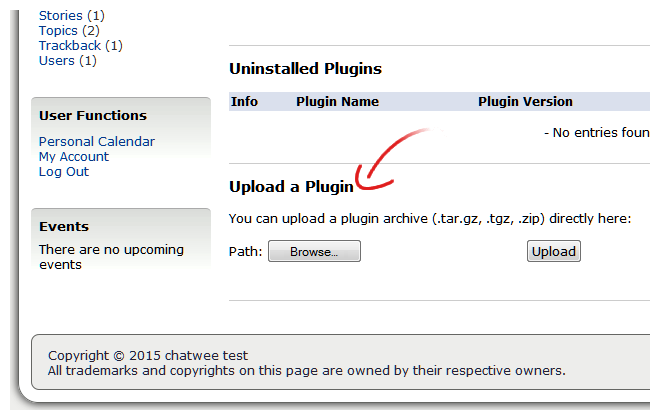 Chat Plugin Upload Geeklog