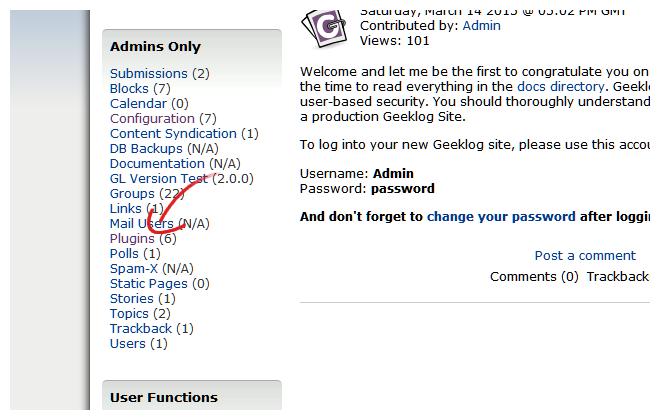 Geeklog Plugins