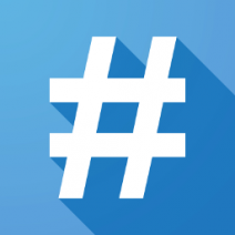 Use hashtags in social media